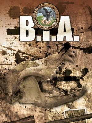 Couverture du livre de base B.I.A. Le titre BIA est surmonté du logo de l'organisation, un médaillon représentant un pygargue à tête blanche.