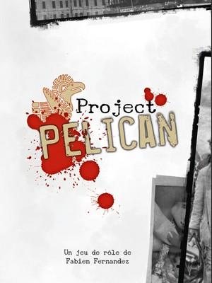 Couverture du livre de base Project Pelican. On y voit le logo du pélican style amérindien, et des bords de photos en noir et blanc.