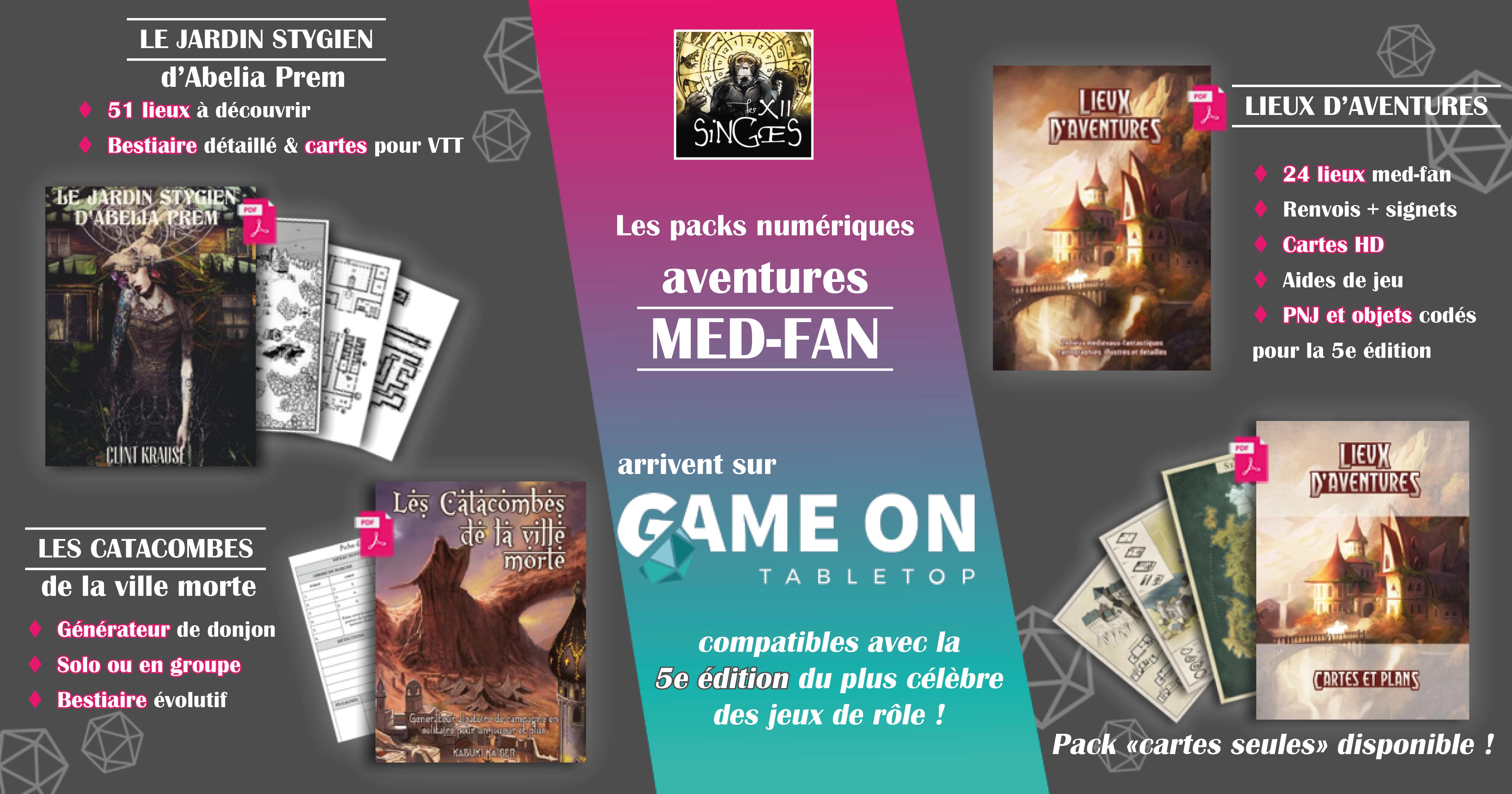 Les packs numériques Aventures Med Fan