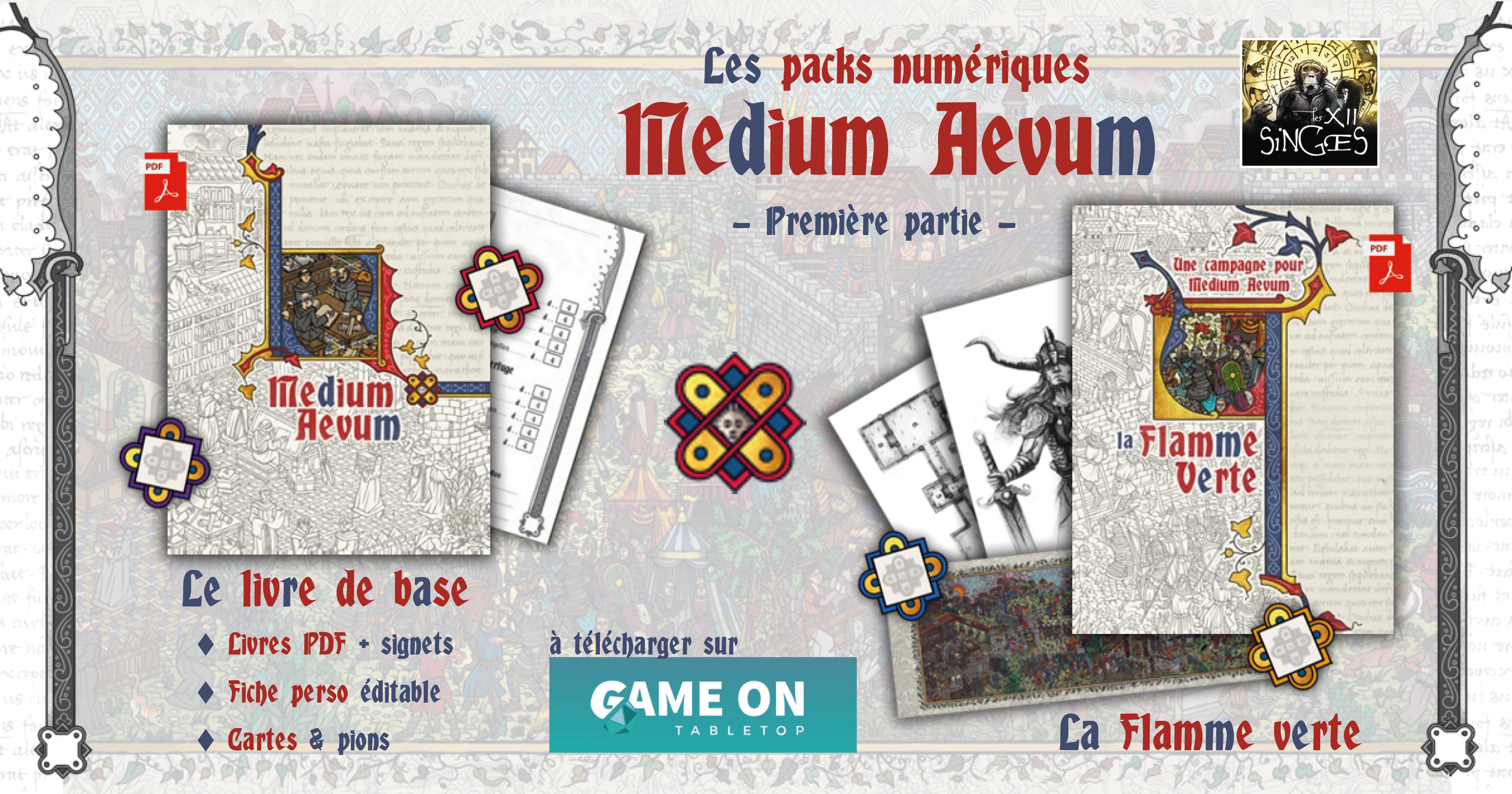 Les packs numériques Medium Aevum